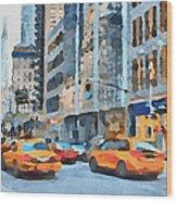 New York 2 Wood Print