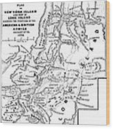 New York: Armies, 1776 Wood Print