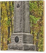New York At Gettysburg - Monument To The 64th Ny Volunteer Infantry In The Rose Woods Wood Print