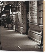 New York At Night - The Phone Call - Theatre District Wood Print