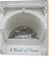 New York Botanical Garden Archway Columns Entrance Architecture Wood Print