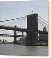 New York Bridge 5 Wood Print