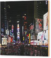 New York - Broadway And Times Square Wood Print