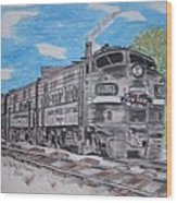 New York Central Train Wood Print