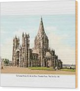 New York City - The Cathedral Church Of St John The Divine - 1915 Wood Print