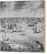 New York City, 1717 Wood Print