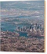 New York City Aerial Wood Print