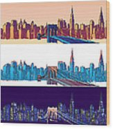 New York City - All Day Wood Print