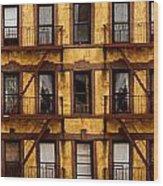 New York City Apartment Building Study Wood Print