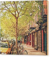 New York City - Autumn In The East Village  Wood Print