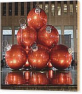 New York City Baubles Wood Print
