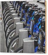 New York City Bikes Wood Print