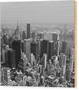 New York City Black And White Wood Print