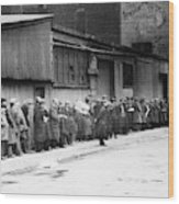 New York City Bread Line Wood Print