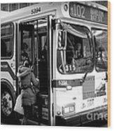 New York City Bus Wood Print