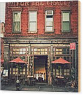 New York City - Cafe In Tribeca Wood Print