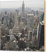 New York City Canyons Wood Print