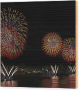 New York City Celebrates The Fourth Wood Print by Susan Candelario