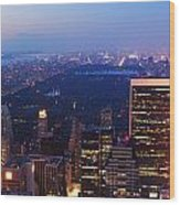 New York City Central Park Manhattan Panorama Wood Print