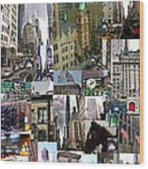 New York City Collage Wood Print
