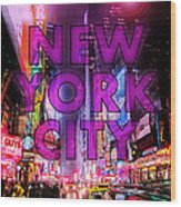 New York City - Color Wood Print