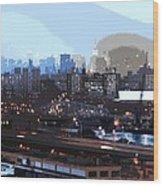 New York City Evening Sky Wood Print