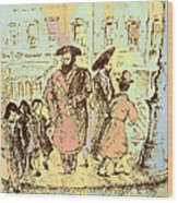 New York City Jews - Fine Art Wood Print