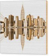 New York City Landmarks - Usa Wood Print