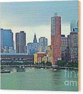 New York City Landscape Wood Print