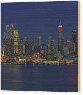 New York City Lights Wood Print
