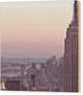 New York City - Manhattan Panorama Wood Print