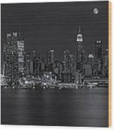 New York City Night Lights Wood Print