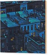New York City Nightfall Wood Print