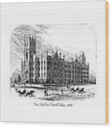 New York City Normal College - 1870 Wood Print