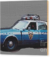Vintage New York City Police Car 1980s Wood Print