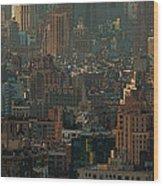 New York City Posterized Wood Print