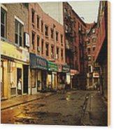 New York City - Rainy Afternoon - Doyers Street Wood Print by Vivienne Gucwa