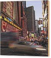 New York City Rush Wood Print