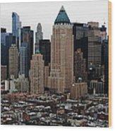 New York City Skyline 19 Wood Print