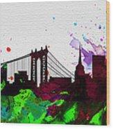 New York City Skyline 2 Wood Print
