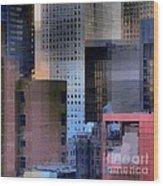 New York City Skyline No. 3 - City Blocks Series Wood Print