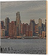 New York City Skyline Panoramic Wood Print