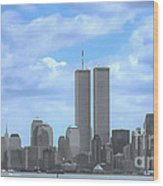 New York City Twin Towers Glory - 9/11 Wood Print