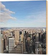 New York City View Wood Print