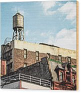 New York City Water Tower 2 Wood Print