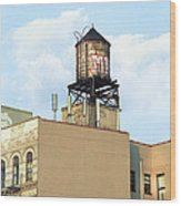 New York City Water Tower 4 - Urban Scenes Wood Print