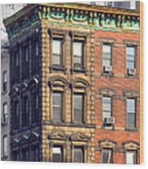 New York City - Windows - Old Charm Wood Print
