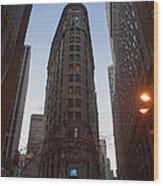 New York Corner Wood Print