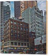 New York Energy Wood Print