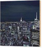 New York Evening Wood Print
